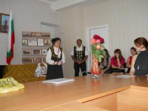 В.А. Зорянова исполняет свою песню