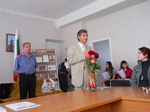 Председатель Запорожского общества болгарской культуры Митков В,В