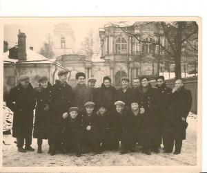 Моя группа-техникум физкультуры и спорта-1956-1959 -я третий справа-налево,стоящие